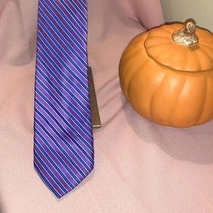 Michael Kors 100% Silk Purple & Navy Tie